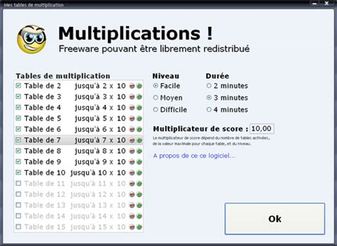 comment apprendre les tables de multiplication jeux