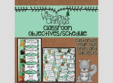 WOODLAND ANIMALS FOREST THEMED DAILY CLASSROOM SCHEDULE
