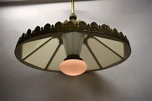 Ceiling light by i p frink s usa originally oil lit