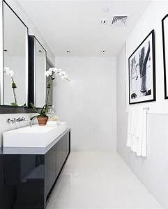 71 cool black and white bathroom design ideas digsdigs for Black and white modern bathroom