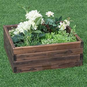 Costway, Square, Raised, Garden, Bed, Flower, Vegetables, Seeds, Planter, Kit, Elevated, Box