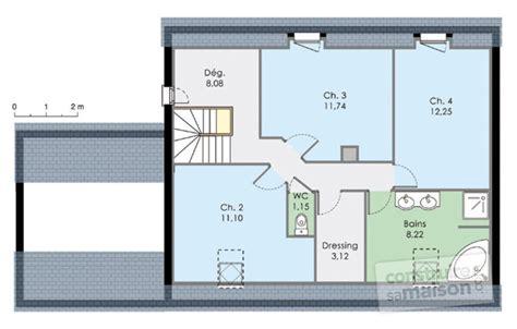 plan maison 4 chambres etage maison moderne de quatre chambres dé du plan de