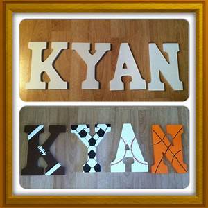 14 best sports theme bedroom decor images on pinterest With kids bedroom letters