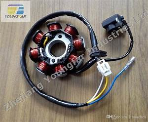 2019 Scooter Moped Atv Go Kart 139qmb Gy6 50 60 80 Cc 8 Pole 3 Wires Dc Magneto Stator From