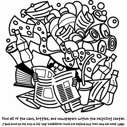 Coloring Recycling Pages Recycle Crayola Activities Earth