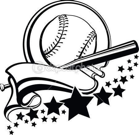 Freesvg.org offers free vector images in svg format with creative commons 0 license (public domain). Baseball or Softball With Pennant & Stars Design — Stock ...
