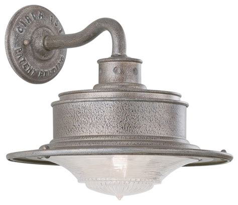 galvanized steel outdoor wall light south street 10 1 4 quot high outdoor galvanized wall light