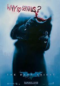 BATMAN: The Dark Knight - Joker Why So Serious? (Heath ...