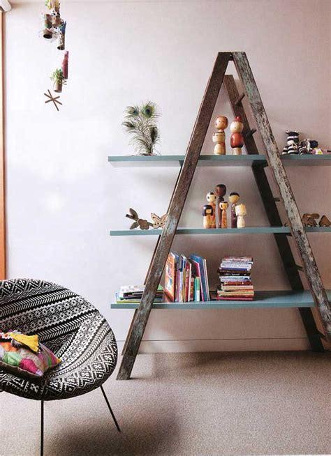 Top 38 Creative Ways To Repurpose And Reuse Vintage Ladders  Amazing Diy, Interior & Home Design