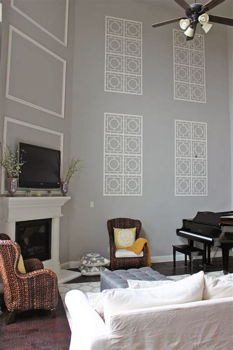 Decorating Living Room Walls - 78 best ideas about decorating high walls on