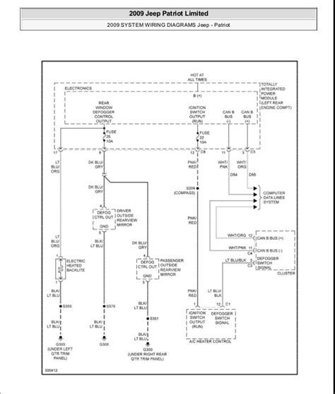 2009 jeep comp wiring diagram jeep auto parts catalog