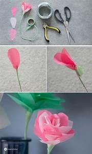 Papierblumen Selber Basteln : diy papierblumen falten einfache anleitung dekoidee bastel i d e e n ~ Orissabook.com Haus und Dekorationen