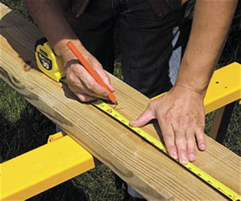 measuring  marking deck building skills