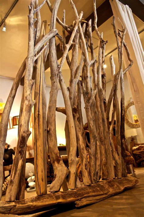 ladaire design en bois flotte paravent en bois flott 233 au clair de lune luminaires bucoliques et mobilier design naturel
