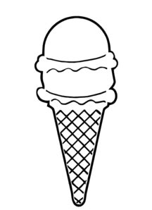 Blank Ice Cream Cone Outline Clip Art - ClipArt Best