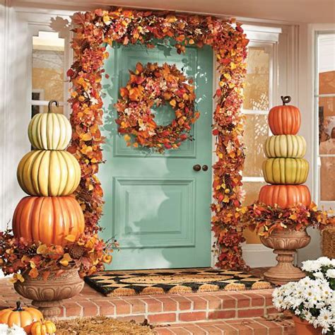stacked pumpkins with garland decorating service chicago