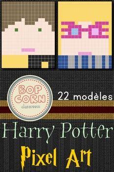 harry potter pixel art  modeles  bopcorn classroom tpt