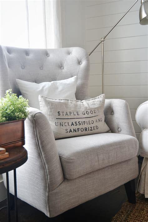 tufted neutral chairs liz marie blog