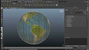 Maya 2011 Tutorial  Planet Earth  Texture Mapping