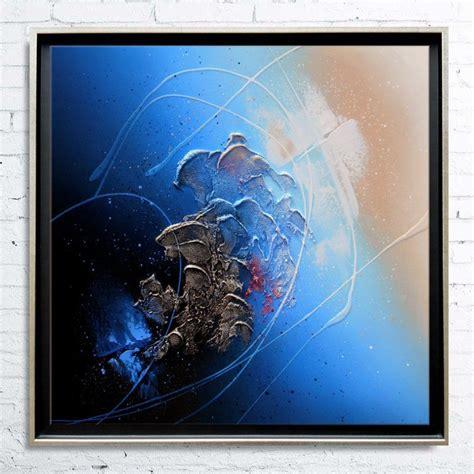 quot ga 207 a quot tableau abstrait peinture acrylique en relief encadr 233 caisse am 233 ricaine moderne nathalie