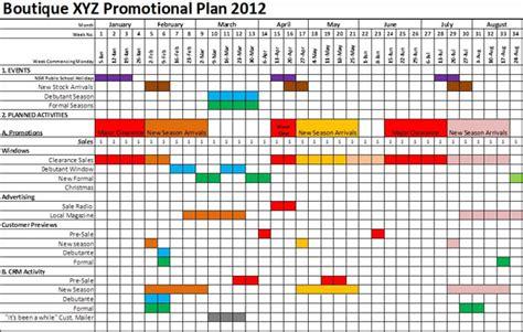 Retail Schedule Template by Retail Marketing Calendar Template Printable Calendar