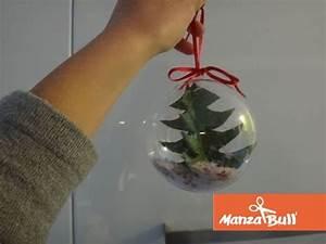 Boule De Noel A Fabriquer : fabriquer une boule de no l sapin transparente manzabull 39 ~ Nature-et-papiers.com Idées de Décoration