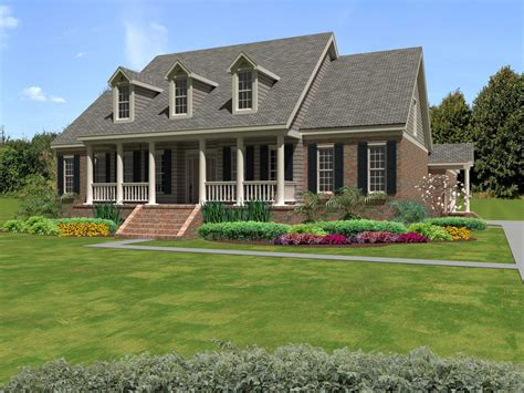 cap  country house plan  bed  sq ft home
