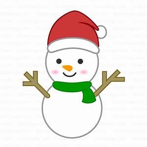 Free Cute snowman Santa image|Free Cartoon & Clipart ...