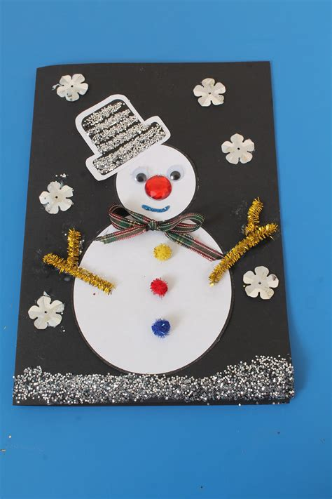 christmas card craft idea  children
