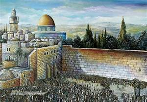 The Western Wall Dome Of The Rock
