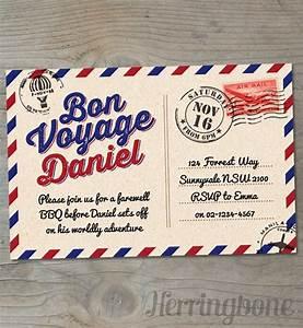 bon voyage farewell printable invitation voyage by and With bon voyage invitation templates free