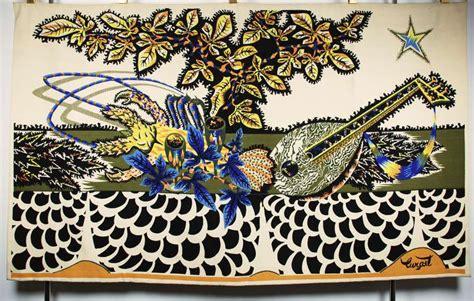 Table Tapisserie by Jean Lurcat Tapisserie La Table Blanche 1952 Tapisserie