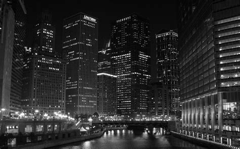 chicago  night black  whit hd wallpaper background
