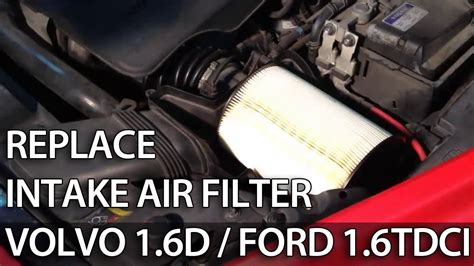 change air filter  tdci  volvo ford