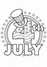July Coloring 4th Pages Easy Fourth Hat Print Tulamama sketch template