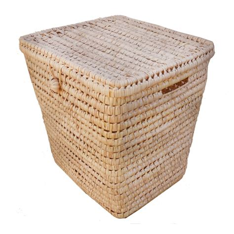 large storage basket with lid large storage box with lid storage baskets moroccan wicker baskets by french baskets