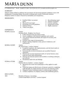 Uk Resume Photo by Auditor Cv Exle For Accounting Finance Livecareer