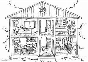 Coloriage maison interieur classroom ideas pinterest for Dessin d interieur de maison