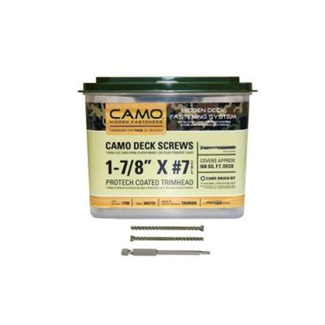 Camo Deck Screws 1 78 by Camo 1 7 8 In Protech Coated Trimhead Deck 1750
