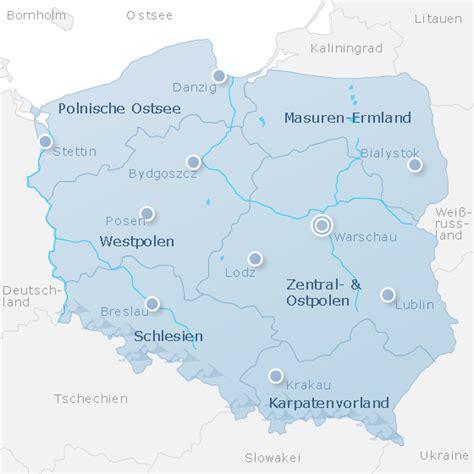 Polen Karte Ostsee