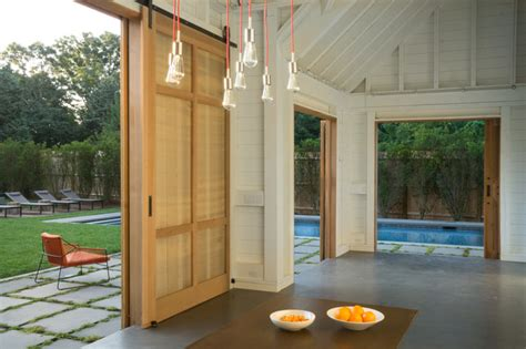 cape cod pool house with sliding barn doors orleans ma