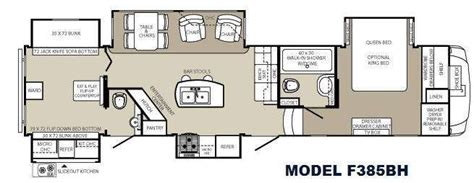 fifth wheel bunkhouse floor plans 5th wheel bunkhouse floor plans floorplan the great