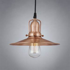 Eaton bright copper vintage pendant light antique