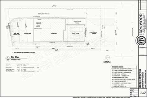 Ironwood Residential » Construction Plans Example Set