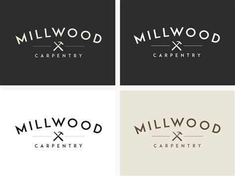 millwoood carpentry logotype brand development  logo