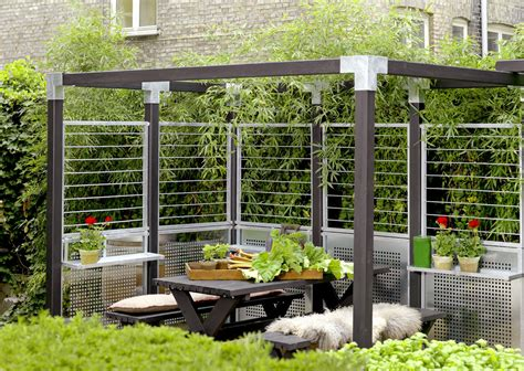 Sichtschutz Garten Elemente by Garten Im Quadrat Stahlspalier Cubic Teil Eines
