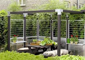 Gartengestaltung Sichtschutz Modern : garten im quadrat stahlspalier cubic teil eines ~ Articles-book.com Haus und Dekorationen