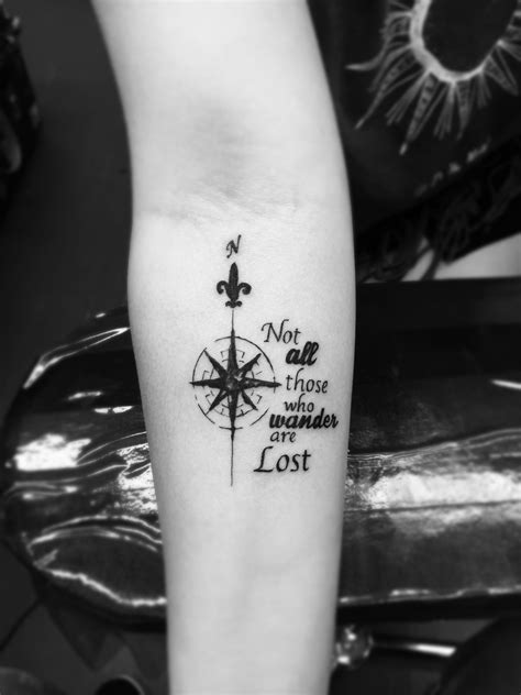 Not all those who wander are lost   Lost tattoo, Small