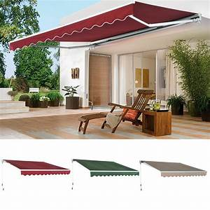 Patio Awning Canopy Retractable Deck Door Outdoor Sun