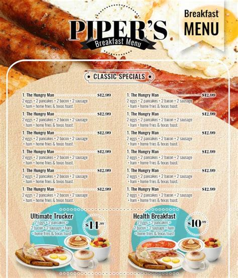 breakfast menu templates  premium templates